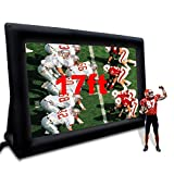 AKSPORT Mega Inflatable Movie Screen- Indoor and Outdoor Blow Up Portable Supersize Front Projection Screen(17ft)