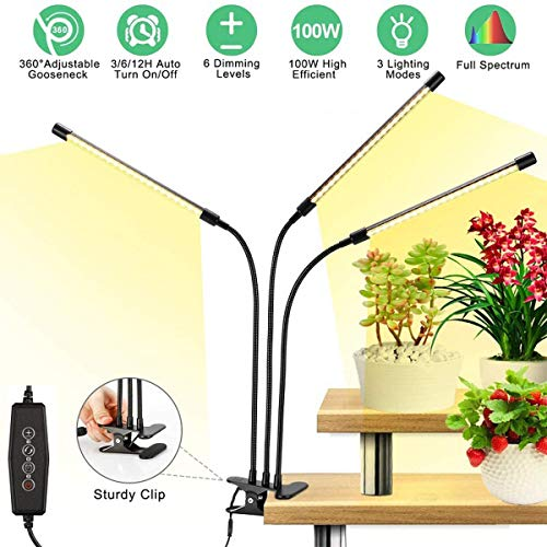 Colorful life 30WLED Plant Light Full-Spectrum Golden Light Imitating Sunlight Growth Light, Used for Seedling Growth, Flowering and Fruiting
