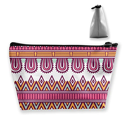 Multi-Functional Print Trapezoidal Storage Bag for Female Ethnic Floral Seamless Pattern