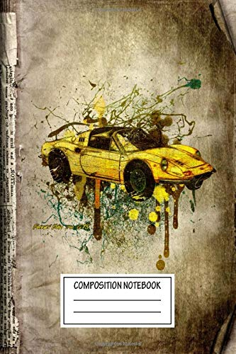 Composition Notebook: Vintage Posters Ferrari Dino 246 Gts Transport Wide Ruled Note Book, Diary, Planner, Journal for...