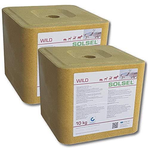 SOLSEL Wildleckstein 20 kg ÖKO Mineral für Hochwild Niederwild Rotwild Rehwild