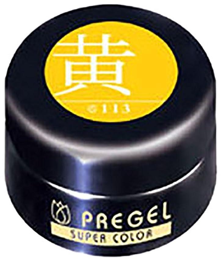 ソビエト滅びる違反プリジェル スーパーカラーEX 黄 4g PG-SE113 カラージェル UV/LED対応