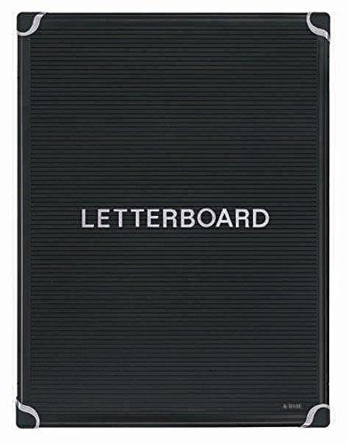 Bi Office, 900 x 600 mm, met aluminium frame, staand formaat, Maya letterbord met standfunctie, zwart