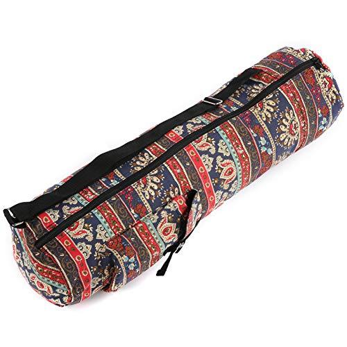 Uxsiya Fintess Bag Ethnic Yoga Mat Carrier Resistente al desgaste para las mujeres (rojo del sureste asiático)