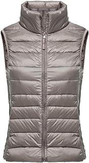 Women's Lightweight Down Gilet Coat Vest Ultra Packable Puffer Jacket