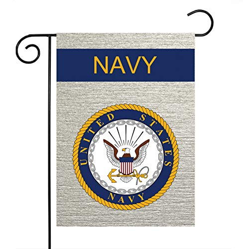 US Navy Garden Flag American Military Veteran Retired Decorations Official Small Gift Vertical Burlap Double Sided Yard Decor 12.5 x 18 Inch