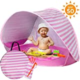ckground Portable Beach Tent, Baby Beach Tent with Swimming Pool, UPF 50+ Detachable UV Protection Waterproof Pop-up Baby Beach Tent, Suitable For 0-4 Years Old