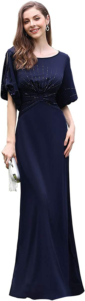 UK 1930s Dresses, Shoes, Clothing in the UK Ever-Pretty Womens Fashion Short Sleeve Floor Length Bodycon Elegant Long Evening Dresses with Rhinestone 00544 £38.99 AT vintagedancer.com