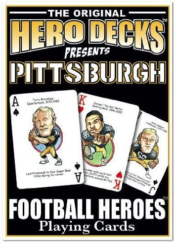 Parody Productions Football Heroes Playing Cards Pittsburgh product image