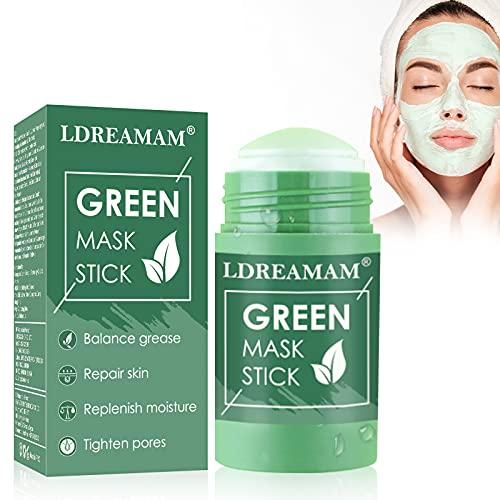 Green Mask Stick,Grüntee Purifying Clay Stick Maske,Grüntee-Maske,Green Tea Cleansing Mask,Tiefenreinigung der Poren,Mitesser entfernen,Poren verkleinern und Haut straffen