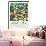Joan Miró ImpresióN Abstracta Moderno Famoso Lienzo Pintura Cuadro De Pared ExposicióN De Arte PóSter GaleríA De ParíS DecoracióN Del Hogar 50x70cm (20x28') Sin Marco