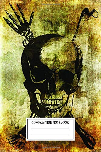 Composition Notebook: Vintage Posters Skull With Bones Vintage Skull Prints Wide Ruled Note Book, Diary, Planner, Journal for Writing