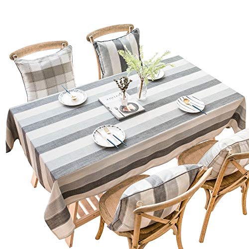 Tischdecke Geometrisches Muster Spritzwassergeschütztes faltenbeständiges ölbeständiges, schweres, weiches Tischtuch für die Küche, die Tischdekoration im Freien, Picknick, rechteckig, grau 90X90CM