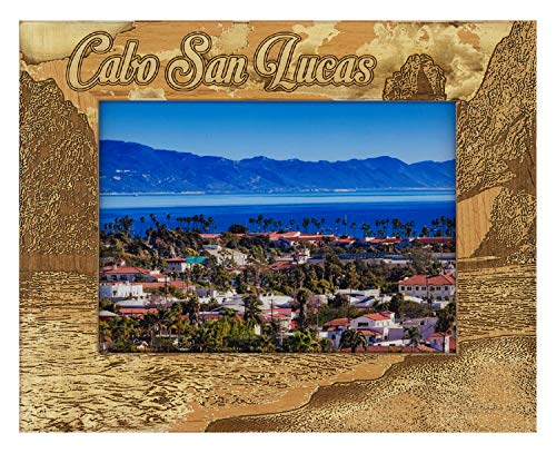 Cabo San Lucas Montage Laser Engraved Wood Picture Frame (5 x 7)
