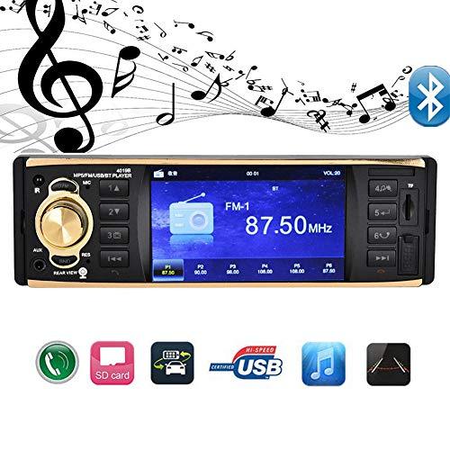4.1In auto FM stereo radio MP5-speler Bluetooth met stuurbediening 4-lichts achteruitkijkcamera, ondersteuning USB / SD / MPG / RMVB / AVI autoradio-ontvanger.