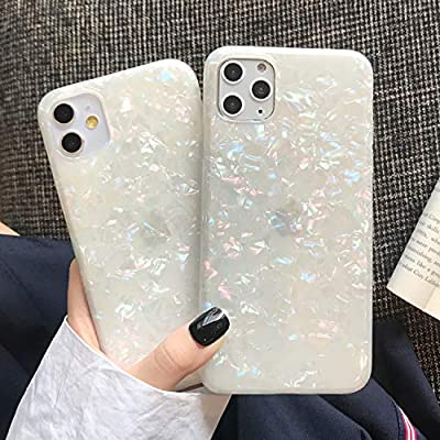 Compatible with iPhone 11 Pro Max Case Pearl Shiny Bling iPhone 11 Pro Max Phone Case Slim Fit Matte Bumper Soft TPU Silicone Cover for Apple iPhone 11 Pro Max