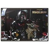 Erik® - Sottomano Multifunzione Star Wars The Mandalorian, Grogu the child ideale come sottomano scrivania o tovaglietta colazione, 49,5x34,5 cm
