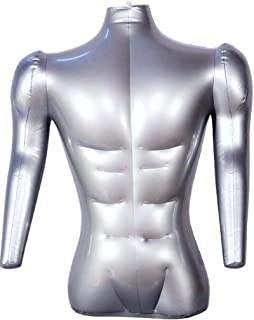 Inflatable Male Half Body Mannequin with Arms Torso Top Shirt Dress Form Dummy Model Display