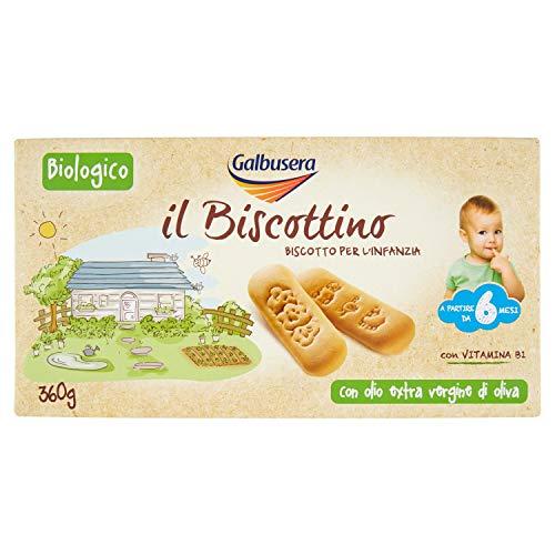 Galbusera Il Biscottino Biscotto per L'Infanzia - Pacco da 6 x 360 g
