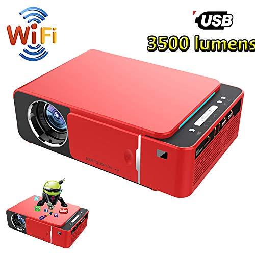 Smart WiFi LED Videoprojektor, HD 720P Wifi Beamer, unterstützt 4K Komplettlösung für Präsentationen Powerpoint Schulen im Freien Film