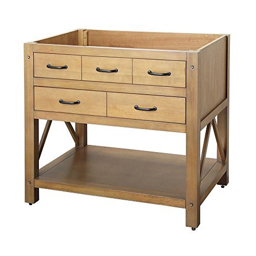 """Foremost AVHOS3622 FM Avondale 36"""" Vanity Cabinet Only, Weathered Pine"""