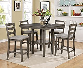 amazon com grey table chair sets kitchen dining room rh amazon com bistro table set for kitchen kitchen table set for small space