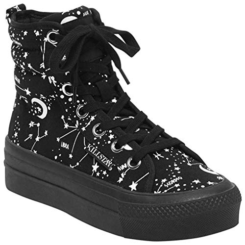 Killstar High Top Sneakers - Starmap (38, Schwarz)