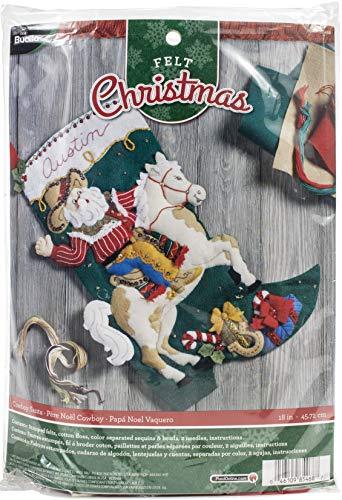 PLAID ENTERPRISES - Kit de Chaussettes en Feutre COWBY SNTA Cowboy Santa, Taille Unique