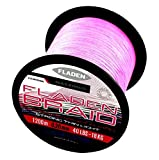 Fladen Maxximus trenzado rosa 1200m Bulk carretes de fuerte delgado ligero de fibra 100% PE pesca línea (disponible en kg y 30kg), rosa
