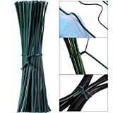 200 Pieces 12 cm Wire Twist Flexible Garden Plant Ties, Nose Clips Nose Bridge Bracket DIY Wire, Multi-Function Sturdy Garden Plant Twist Tie Plastic Garden Ties Plant Support Tree Shrub (Green)