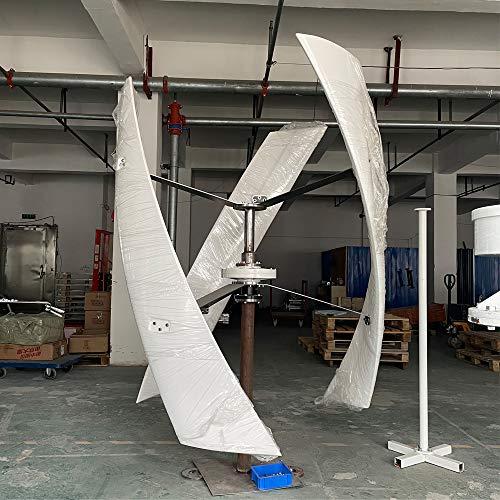 800 W 1000 W 2000 W Turbina de viento vertical 24 V 48 V 96 V AXIS Generador de viento permanente Maglev sin energía molino de viento (24 V blanco, 1000 W)