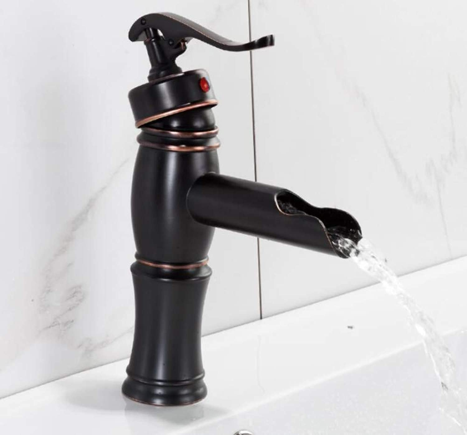 Bathroom Faucet Basin Faucets Black Waterfall Bathroom Faucet Water Taps Basin Sink Faucet Taps Mixers Deck Mounted