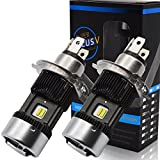 Kashine H4 LED Faros de Moto Kit H4 LED Bulbo Hi/Lo Beam Xenon Blanco 6000K 30000Lm Super Brillante (2 Piezas)