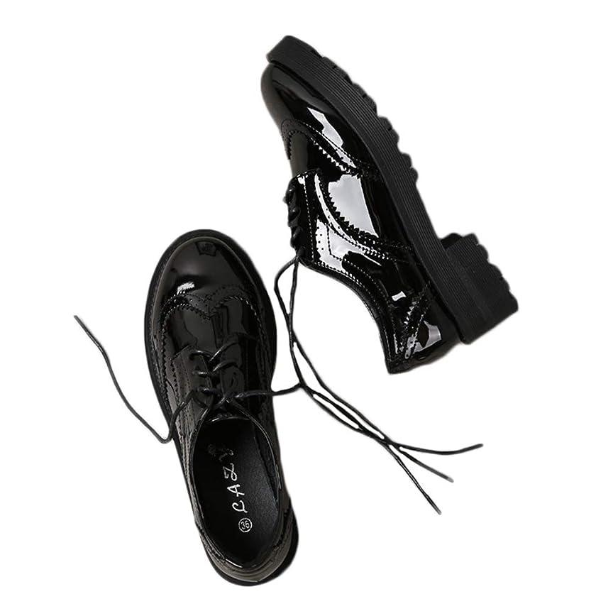 セール研究所原始的な[THLD] オックスフォードシューズ おじ靴 レースアップシューズ ウィングチップ カジュアルシューズ レディース ワークブーツ レースアップ 4ホール 走れる マニッシュ ローヒール ブラック 黒 靴 韓国風 レッド 大きいサイズ 裏起毛