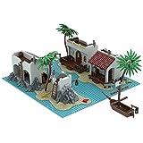 TENHORSES MOC-55974 Legoredo Lagoon - Juego de construcción Pirates Bay con tesoro - Compatible con Lego 21322 Pirates of Barracuda Bay - 1344 piezas