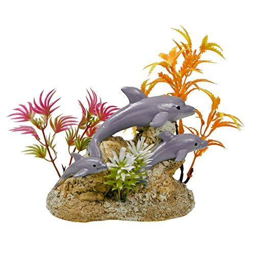 Blue Ribbon Wasser-Szene mit Delfine Exotic Umgebungen Aquarium Ornament