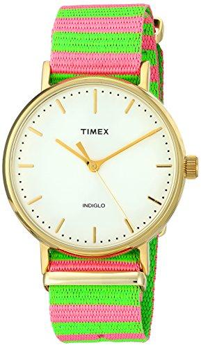 Timex Reloj Analogico para Mujer de Cuarzo con Correa en Nailon TW2P91800