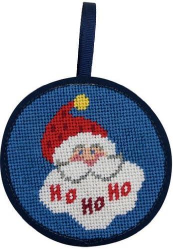 Ho Santa Christmas Ornament Needlepoint Kit Japan Maker New - online shop