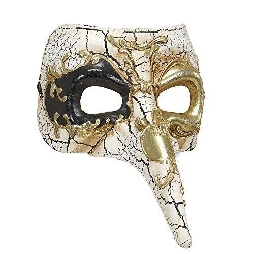 Widmann 04725 masker met lange neus, verschillende kleuren, Taglia Unica