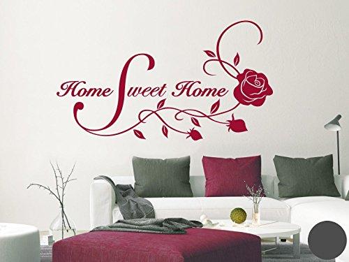 Klebefieber Wandtattoo Home Sweet Home B x H: 40cm x 22cm Farbe: Dunkelgrau