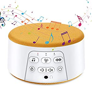 By-Heart White Noise Machine for Sleeping, Sleep Sound Machine with 29 Soothing Natural Sounds, Timer & Memory Feature, Suitable for Baby & Adults, Home, Office