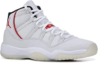Nike Kids Jordan Air 11 Retro GS Basketball Shoes, Platinum Tint/Sail-university Red, Youth Size 7