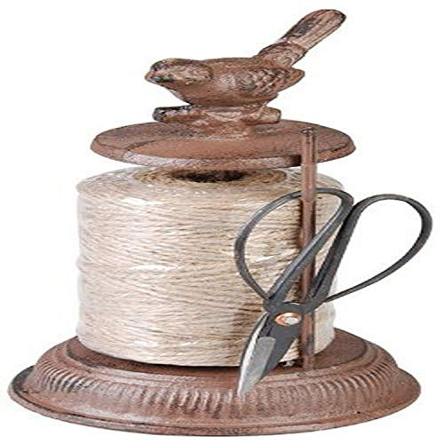 Esschert Design tg21423x 12x 12cm Holz Gusseisen Schere mit Seil–Braun