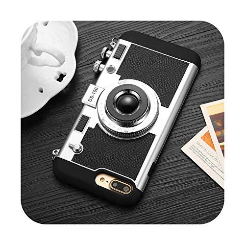 Funda de teléfono con cordón para iPhone 12 11 Pro X XS Max 6 7 8 Plus silicona suave cámara vintage protección completa a prueba de golpes cubierta trasera T1-para iPhone 11