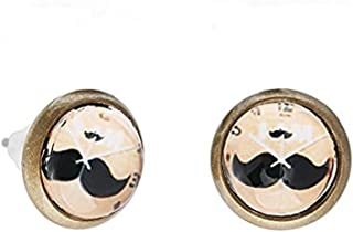 Chicnet Unisex Stainless Steel Nickel-Free Earrings, Old USA