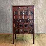 Asien Lifestyle Armario chino histórico (183 cm) hecho a mano de madera ciprés