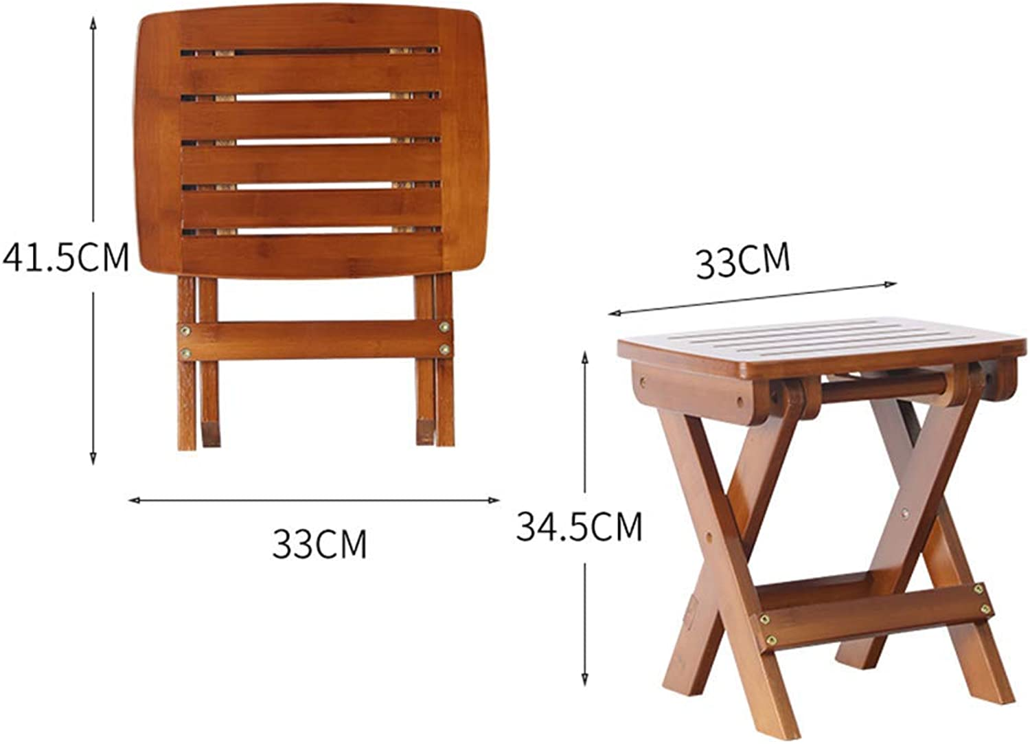 JZX Leisure Folding Home Dining Chair, Stool, Bamboo Bench, Multi-Functional Modern Stool