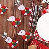 Sunshine smile Weihnachten Bestecktaschen,Geschirrhalter Besteckhalter Weihnachtsmann,Weihnachten Besteckhalter Bestecktasche,Weihnachtsmann Tischdeko,Weihnachten Dekoration Besteck(B, 6 PCS)