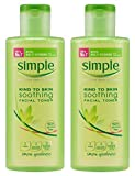 Simple Kind To Skin Soothing Facial Toner, 6.7 Ounce (200ml) (Pack of 2)