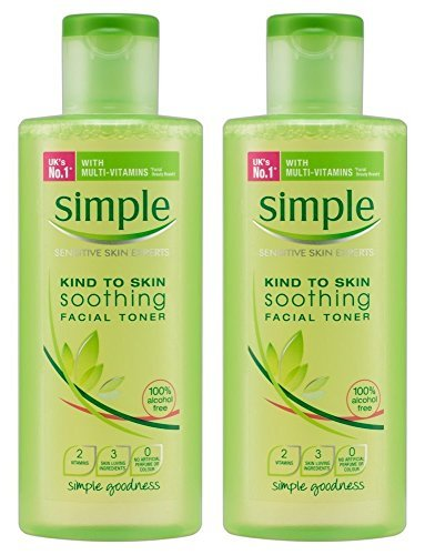 Simple Soothing Facial Toner 6.7 Ounce (198ml) (2 Pack)